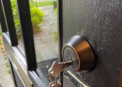 Deadbolt for residential entry door