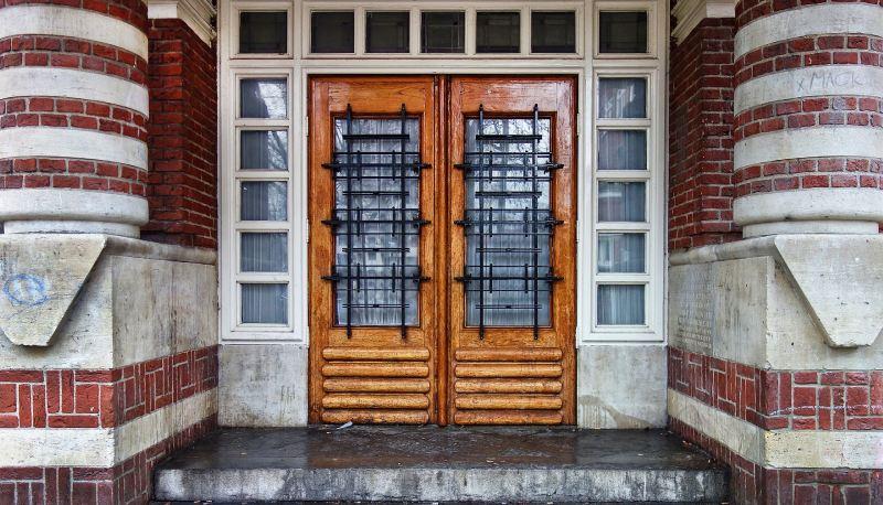 front door lock set for double doors